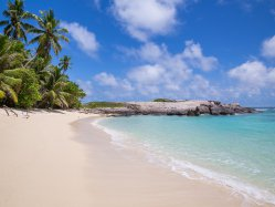 Seychelles beaches. Anse Forbans beach just steps away from your fully equipped self catering chalet.