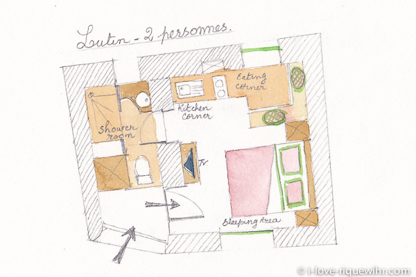 Plan du studio. Cliquez pour afficher.