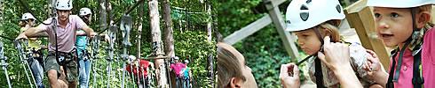 La foret des enigmes aux environs des hebergements insolties du parc animalier de sainte croix