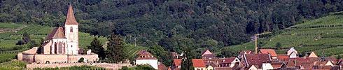 Hunawihr à quelques kilomètres de Riquewihr en Alsace