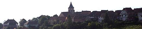Zellenberg à quelques kilomètres de Riquewihr en Alsace